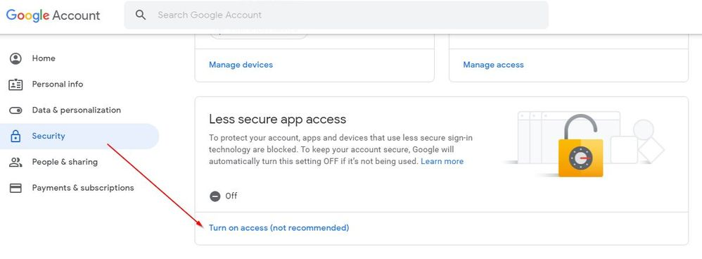 GMail Less Secure Access