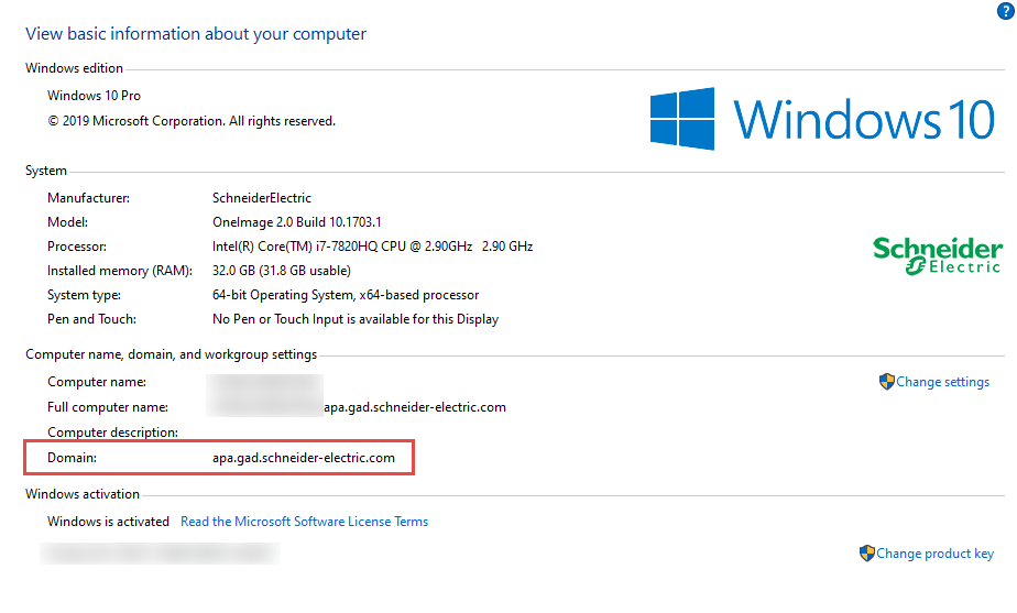 Windows Domain information (note this is case sensitive)