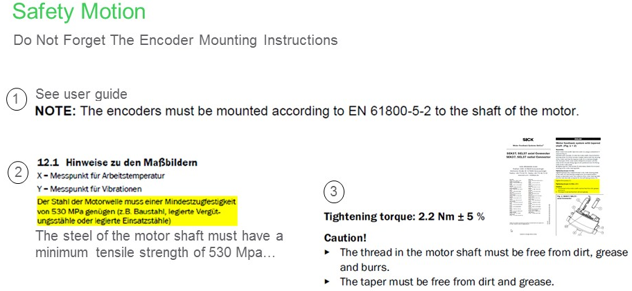 Encoder mounting instructions