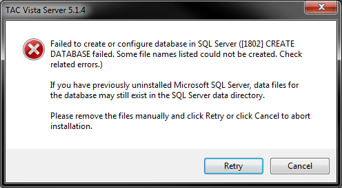 Failed to create or configure database.png