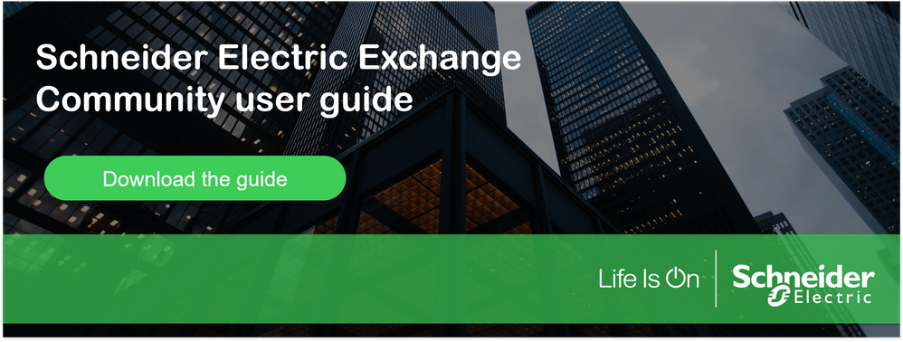 Schneider Electric Exchange community user guide.png