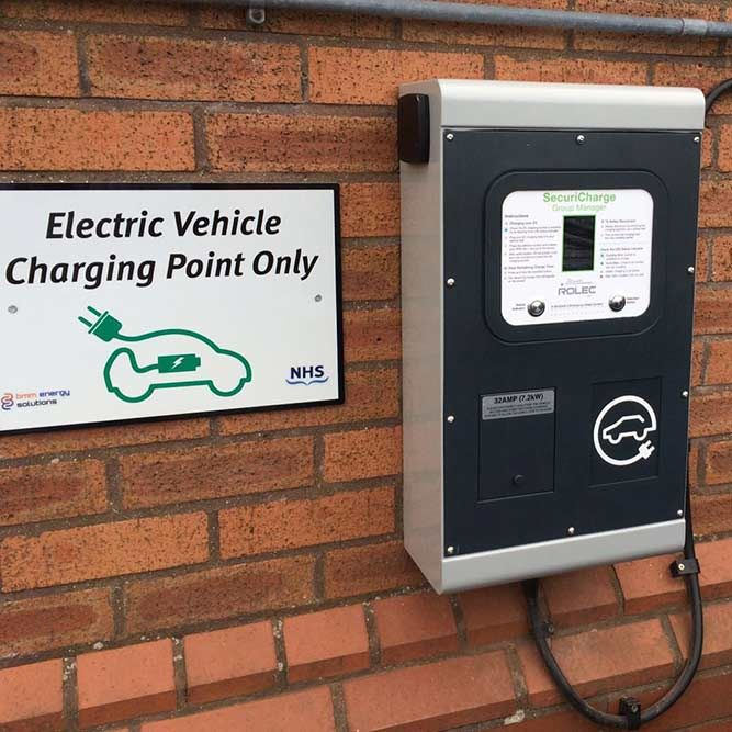 EV charging points are already being installed at some NHS Hospitals