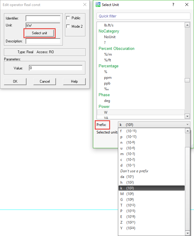 Function block with prefix in v. 3.0