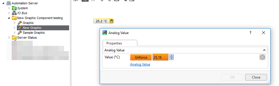 Example: Showing forced value
